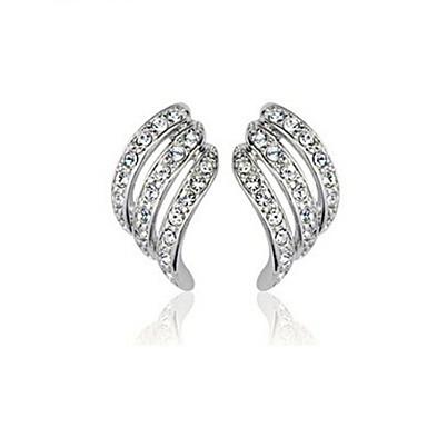 Γυναικεία Κουμπωτά Σκουλαρίκια Κρύσταλλο Στρας Κράμα Κοσμήματα Ασημί Χρυσαφί Γάμου Πάρτι Καθημερινά Κοστούμια Κοσμήματα