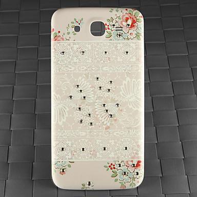 τρυπάνι και το λευκό διακοσμητικό μοτίβο pc πίσω κάλυψη περίπτωσης για Samsung Galaxy i9152 Mega