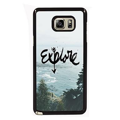 Voor Samsung Galaxy Note Hoesje cover Patroon Achterkantje hoesje Landschap PC voor Samsung Note 5 Edge Note 5 Note 4 Note 3