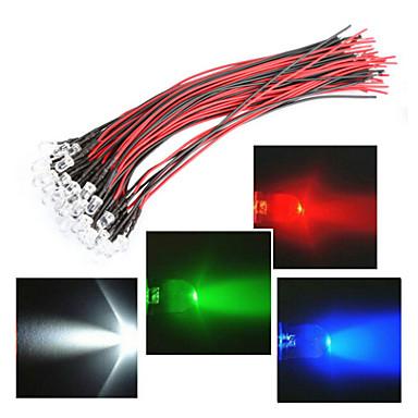 lijn lengte 20cm geleid 12v 5mm licht rood / wit / blauw / groen / rgb 20st bundel