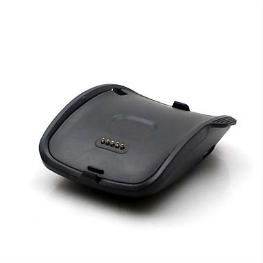 oplader dock voor Samsung Galaxy Gear s sm-r750 usb slimme horloge oplader houder met kabel 1m zwarte kleur