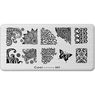 1 - 12X6X0.1 - Λουλούδι/Αφηρημένο - Άλλα Διακοσμητικά - για Δάχτυλο/Δάκτυλο Ποδιού - από Μέταλλο