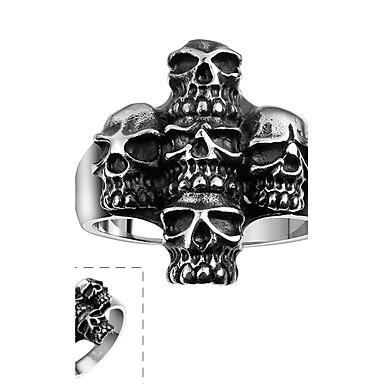 Ανδρικά Δαχτυλίδι Εξατομικευόμενο Κοσμήματα με στυλ Ανοξείδωτο Ατσάλι Κρανίο Κοσμήματα Halloween Καθημερινά Causal Αθλητικά