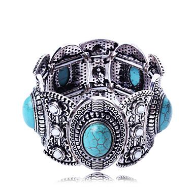 Damskie Bransoletki bangle Artystyczny Stop Owalny Biżuteria Ślub Impreza Specjalne okazje Urodziny Biżuteria kostiumowa