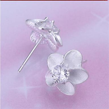 Γυναικεία Κουμπωτά Σκουλαρίκια Ασήμι Στερλίνας Κοσμήματα Γάμου Πάρτι Καθημερινά
