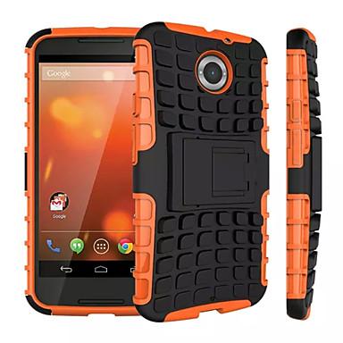 Για Θήκη Motorola Ανθεκτική σε πτώσεις / με βάση στήριξης tok Πίσω Κάλυμμα tok Πανοπλία Σκληρή PC Motorola