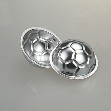 Futebol do futebol de molde do bolo do cozimento geléia diy não-tóxico de alumínio pan de chocolate molde do bolo de aniversário