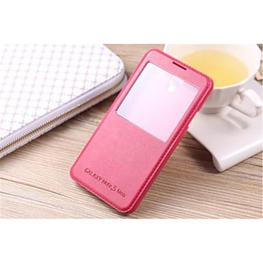 Para Samsung Galaxy Note7 Com Suporte / com Visor Capinha Corpo Inteiro Capinha Cor Única Couro PU SamsungNote 7 / Note 5 Edge / Note 5 /