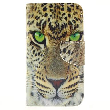 Para Samsung Galaxy Capinhas Porta-Cartão / Carteira / Com Suporte / Flip Capinha Corpo Inteiro Capinha Animal Couro PU Samsung S5