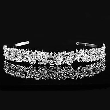 Bruiloft / Feest - Tiara'S (Imitatieparel / Strass , Zilver)