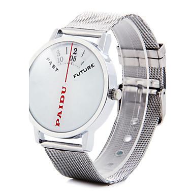 Heren Polshorloge Unieke creatieve horloge Kwarts Legering Band Zilver