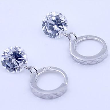 Γυναικεία Συνθετικό Diamond Κουμπωτά Σκουλαρίκια - Ασήμι Στερλίνας, Ζιρκονίτης, Προσομειωμένο διαμάντι Πετράδια σχετικά με τον μήνα γέννησης Ασημί Για Καθημερινά / Causal / Αθλητικά