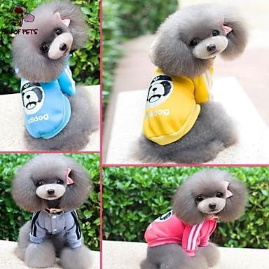 Kat Hond Jumpsuits Hondenkleding Modieus Sport Cartoon Grijs Geel Roos Blauw Kostuum Voor huisdieren