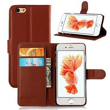 tok Για Apple iPhone 6 iPhone 6 Plus Θήκη καρτών Ανοιγόμενη Πλήρης Θήκη Συμπαγές Χρώμα Σκληρή PU δέρμα για iPhone 6s Plus iPhone 6s
