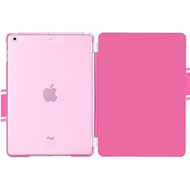 tok Για iPad Mini 4 Μίνι iPad 3/2/1 iPad 4/3/2 iPad Air 2 iPad Air με βάση στήριξης Οριγκάμι Πλήρης Θήκη Συμπαγές Χρώμα PU δέρμα για iPad
