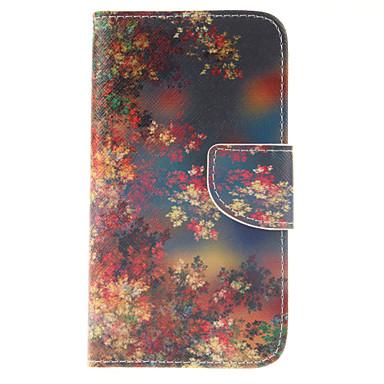 Capinha Para Samsung Galaxy Samsung Galaxy Capinhas Porta-Cartão Carteira Com Suporte Flip Capa Proteção Completa Flor PU Leather para S5