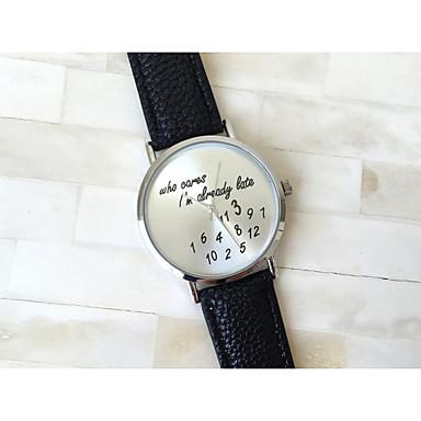 Women's Quartz Wrist Watch PU Band Word Watch / Fashion