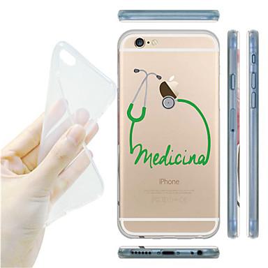 maycari® creatieve medicinals transparante zacht TPU achterkant van de behuizing voor de iPhone 6 plus