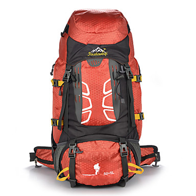 55 L حقيبة الظهر التخييم والتنزه التسلق رياضة وترفيه مقاوم للماء مكتشف الغبار يمكن ارتداؤها متعددة الوظائف