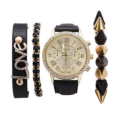 Mulheres Relógio de Moda Bracele Relógio Relógio Casual Quartzo PU Banda Elegantes