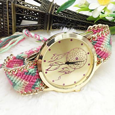 Mulheres Quartzo Relógio de Pulso Tecido Banda Amuleto / Fashion
