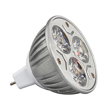 3w mr16 210-245lm lâmpada de luz quente / fria levou spot lights (12v) 1pcs
