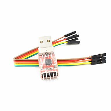 CP2102 usb naar TTL usb UART module seriële converter - rood + zilver + zwart