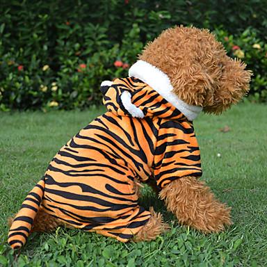 Hond kostuums Jassen Outfits Hondenkleding Cosplay Halloween Dier Stripprint Zwart Rood
