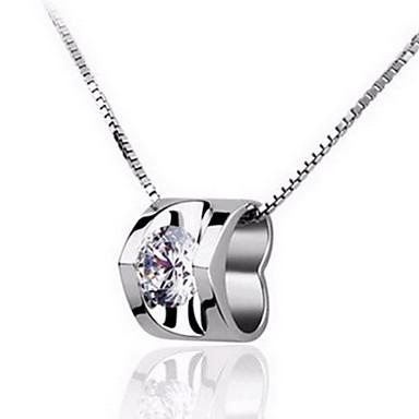 Kettingen Hangertjes ketting Sieraden Sterling zilver / Kristal Bruiloft / Feest / Dagelijks / Causaal Zilver 1 stuks Geschenk