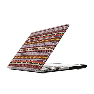 MacBook Hoes voor Bohémien-stijl Gestreept PU-nahka MacBook Pro 15
