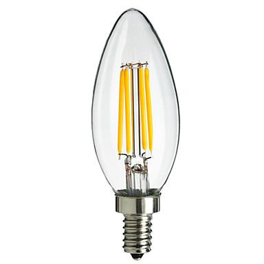 E14 LED필라멘트 전구 CA35 4 고성능 LED 400 lm 따뜻한 화이트 차가운 화이트 장식 AC 220-240 V 1개