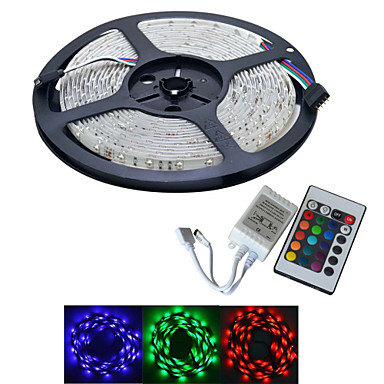 JIAWEN® 5 M 300 3528 SMD RGB Knipbaar / Koppelbaar 25 W Flexibele LED-verlichtingsstrips DC12 V