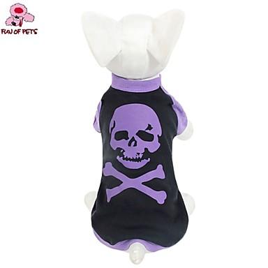 Kat Hond T-shirt Hondenkleding Cosplay Bruiloft Doodskoppen Kostuum Voor huisdieren