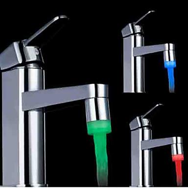 rgb kleur temperatuurregeling universele adapter geleid aanrecht kraan nozzl (temperatuur van het water veranderen)
