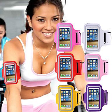Capinha Para iPhone 6s Plus iPhone 6 Plus iPhone 6s iPhone 6 Universal com Visor Braçadeira Faixa de Braço Côr Sólida Macia Têxtil para
