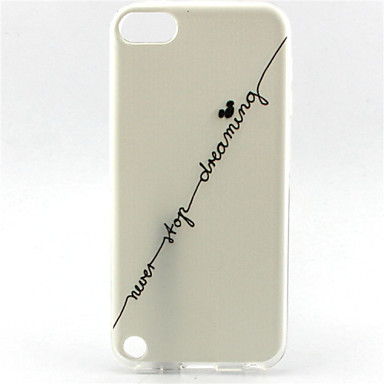 sonhar padrão pintura mickey TPU soft case para o iPod touch 5 toque 6