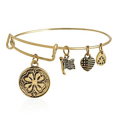 Heren Dames Bangles Legering Klavertje vier LOVE Sieraden Dagelijks Causaal Kostuum juwelen