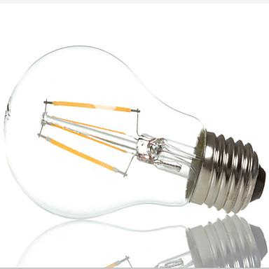 E26/E27 Lâmpada Redonda LED A60(A19) 4 LED de Alta Potência 400 lm Branco Quente Branco Frio 3000/6500 K Decorativa AC 220-240 V 1 pç