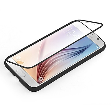 Για Samsung Galaxy Θήκη Διαφανής tok Πλήρης κάλυψη tok Μονόχρωμη TPU Samsung S6