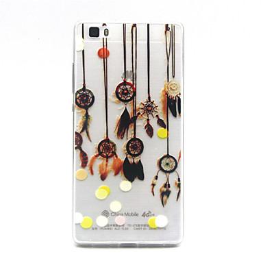 Voor Huawei hoesje P8 Lite Hoesje cover Transparant Achterkantje hoesje Dromenvanger Zacht TPU voor Huawei Huawei P8 Lite