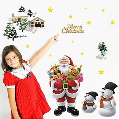 αφαιρούμενη εύθυμος Χριστούγεννα santa claus αρχική διακόσμηση τέχνη βινυλίου αυτοκόλλητο τοίχο