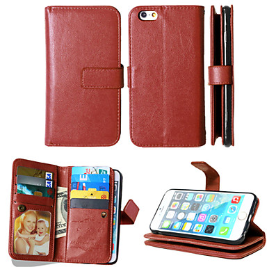 pu couro + TPU tampa traseira carteira titulares de cartão tanto ranhura + dinheiro + moldura caso de telefone magnética para iphone 6 /