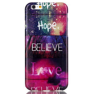 Voor iPhone 6 iPhone 6 Plus Hoesje cover Patroon Achterkantje hoesje Woord / tekst Zacht TPU voor iPhone 6s Plus iPhone 6 Plus iPhone 6s