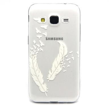 Para Samsung Galaxy Capinhas Case Tampa Transparente Capa Traseira Capinha Penas PUT para Samsung Galaxy Core