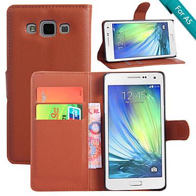Voor Samsung Galaxy hoesje Kaarthouder / met standaard / Flip / Magnetisch / Patroon hoesje Volledige behuizing hoesje Effen kleur PU-leer