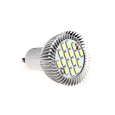 GU10 LED-spotlampen MR16 16 leds SMD 5630 Decoratief Warm wit Koel wit 3000/6500lm 3000K/6500KK AC 85-265V