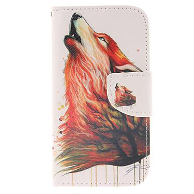 hoesje Voor Samsung Galaxy Samsung Galaxy hoesje Kaarthouder Portemonnee met standaard Flip Volledig hoesje dier PU-nahka voor S3