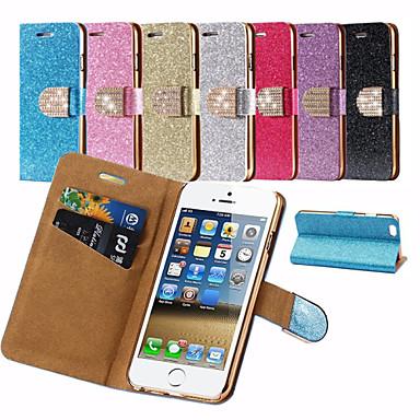Para Capinha iPhone 6 / Capinha iPhone 6 Plus Porta-Cartão / Com Strass / Com Suporte / Flip / Estampada Capinha Corpo Inteiro Capinha