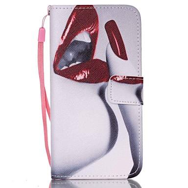 Capinha Para Samsung Galaxy Samsung Galaxy Capinhas Porta-Cartão Carteira Com Suporte Flip Capa Proteção Completa Mulher Sensual PU