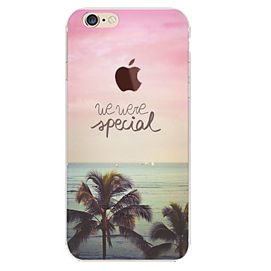 Capinha Para Apple iPhone 6 iPhone 6 Plus Estampada Capa traseira Cenário Macia TPU para iPhone 6s Plus iPhone 6s iPhone 6 Plus iPhone 6